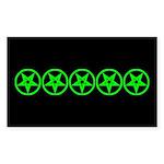 Pentagram Green So Below Dark Sticker (Rectangular