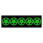 Pentagram Green So Below Dark Bumper Sticker