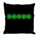 Pentagram Green So Below Throw Pillow