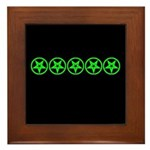 Pentagram Green So Below Framed Tile
