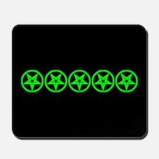 Pentagram Green So Below Mousepad