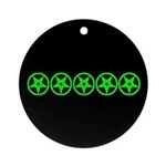 Pentagram Green So Below Ornament (Round)