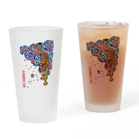 Tiger cherry Drinking Glass