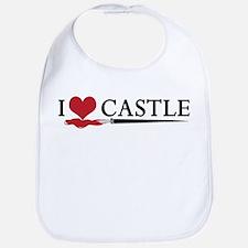 I Love Castle Bib