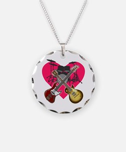 Power trio Necklace Circle Charm