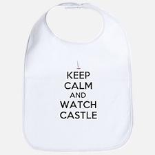 Keep Calm and Watch Castle Bib
