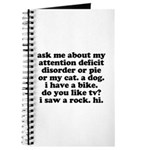 Funny My ADD Quote Journal