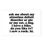 Funny My ADD Quote Postcards (Package of 8)