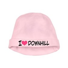 I Heart Downhill baby hat