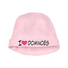 I Heart Dominoes baby hat