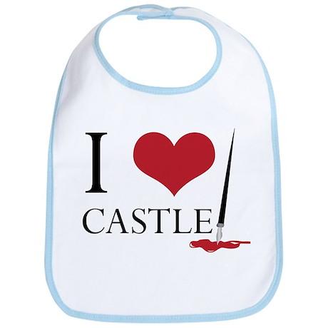 I Heart Castle Bib