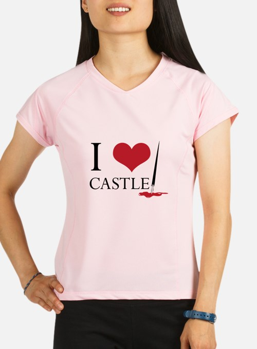 I Heart Castle Performance Dry T-Shirt