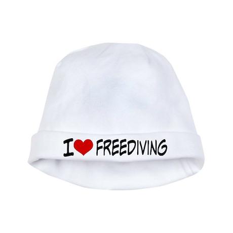 I Heart Freediving baby hat