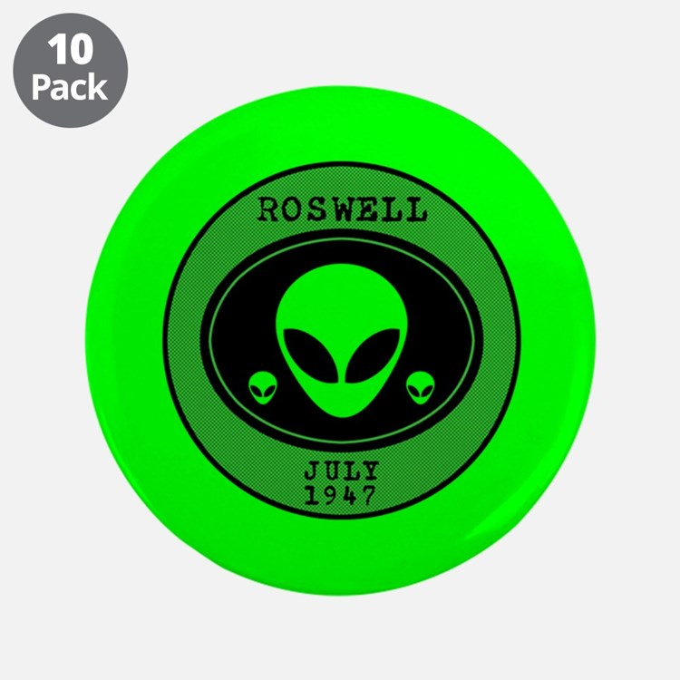 """Roswell July 1947 3.5"""" Button (10 pack)"""