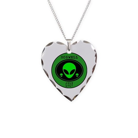 Roswell July 1947 Necklace Heart Charm