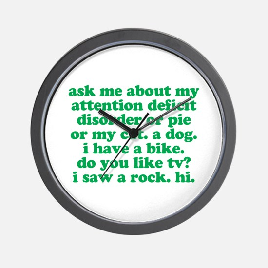 Funny My ADD Quote Wall Clock