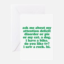 Funny My ADD Quote Greeting Card