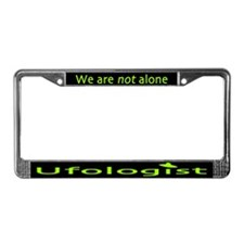 Ufologist Dark License Plate Frame