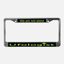 Ufologist Dark License Plate Frame