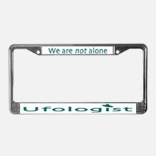Ufologist Light License Plate Frame
