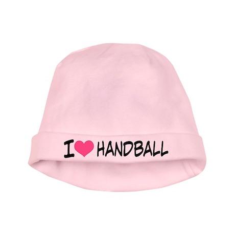 I Heart Handball baby hat