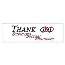 Thank Scientists Car Sticker