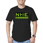 NHE Non Human Entity Men's Fitted T-Shirt (dark)