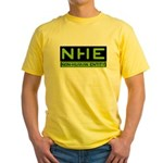 NHE Non Human Entity Yellow T-Shirt