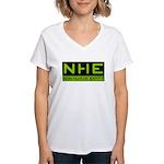 NHE Non Human Entity Women's V-Neck T-Shirt