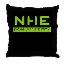 NHE Non Human Entity Throw Pillow