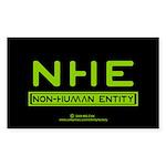 NHE Non Human Entity Rectangle Sticker 10 pk)