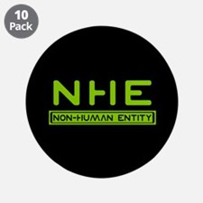 """NHE Non Human Entity 3.5"""" Button (10 pack)"""