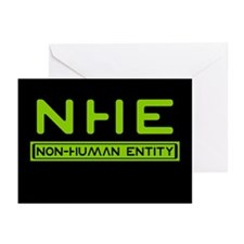 NHE Non Human Entity Greeting Cards (Pk of 10)