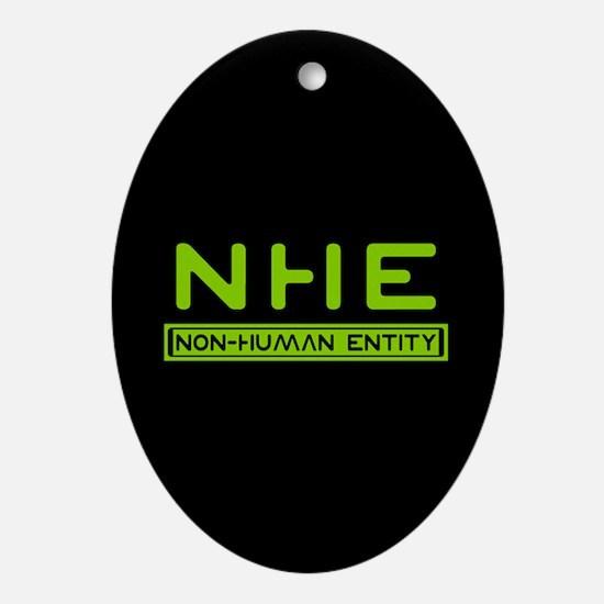 NHE Non Human Entity Oval Ornament