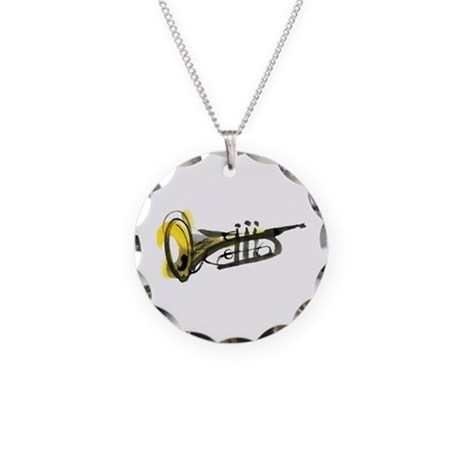 Trumpet Necklace Circle Charm