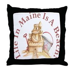 Life's a Beach! Throw Pillow