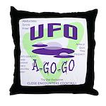 UFO A Go Go Light Throw Pillow