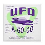 UFO A Go Go Light Tile Coaster