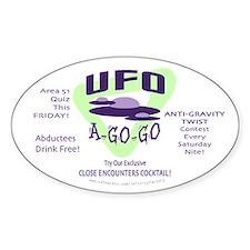 UFO A Go Go Light Oval Decal