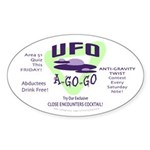 UFO A Go Go Light Oval Sticker