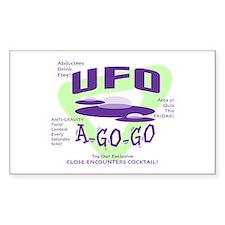 UFO A Go Go Light Rectangle Decal