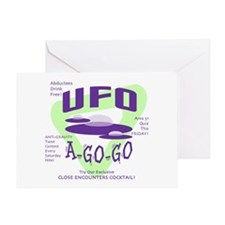 UFO A Go Go Light Greeting Card