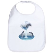 The Heart Of The Dolphins Bib
