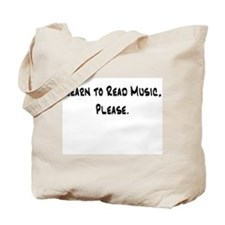 Learn to Read Music Please Tote Bag