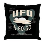 UFO A Go Go Throw Pillow