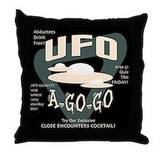 UFO A Go Go Throw Pillow