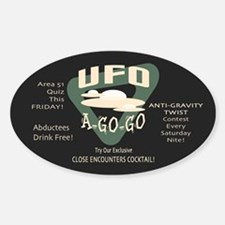 UFO A Go Go Oval Decal