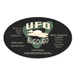 UFO A Go Go Oval Sticker