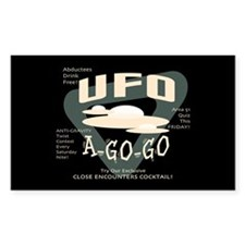 UFO A Go Go Rectangle Decal