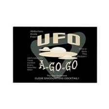 UFO A Go Go Rectangle Magnet